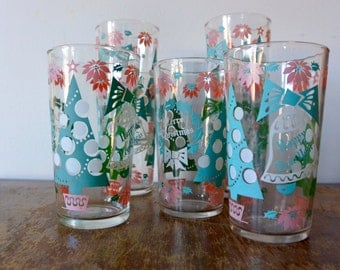 Holiday Glasses - Set of 7