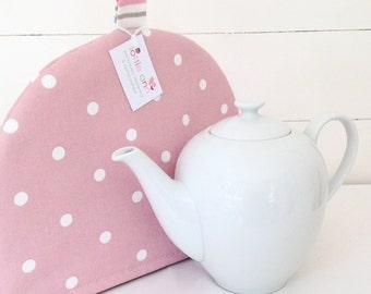 Pink Dotty Tea Cosy, Pink Tea Cosy, Dotty Tea Cosy