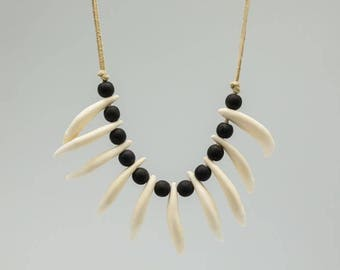 Real Coyote Tooth Necklace: 10-Tooth