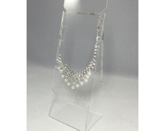 Fixture Displays® FixtureDisplays® Clear Acrylic Plexiglass Necklace Jewelry Stand Countertop Display 11620-8B
