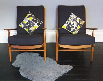 A Pair of  Mid Century Armchairs by Scandart