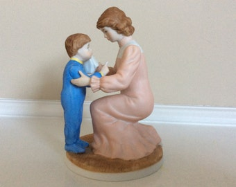 "A Mother and a Her Son Figurine , "" My Mother's Love"" Heritage House."