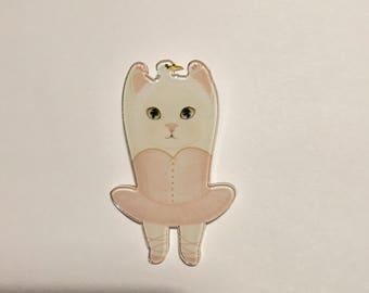 Swan lake ballet dance cat tussy kitten dance tutu skirt funky brooch