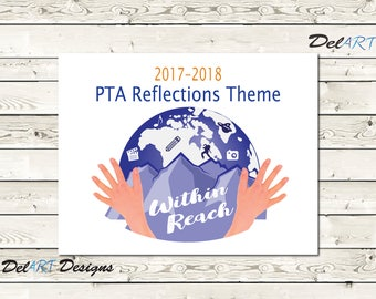Pta reflections certificate 2017 2018 digital printable pdf pta reflections theme 2017 2018 within reach digital file ready to print yadclub Gallery