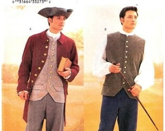 Butterick 3072 Revolutionary War Men's Costume / 2001 SZ44-48 UNCUT