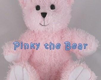 Personalized Music Singing Stuffed Animal Pink Teddy Bear