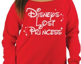 Disneys olvidado a perdida princesa suéter de las mujeres del hombro. Mujeres de hombros suéter. Apagado el suéter de hombro. las mujeres suéter de disney.