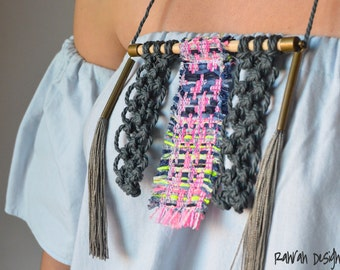 Contemporany Macrame necklace / Ranran Design