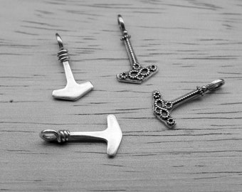 Thor's hammer pendant little and pretty / silver thor's hammer / little thor's hammer / thor's hammer with felegree thors hammer viking