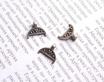 Silver lunula / silver granulation / granulation lunula / granulation pendant / silver pendant