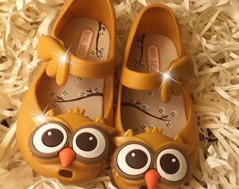 Owl shoes for girl / shoes girl size 7.5