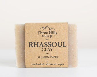 Rhassoul Clay,Rhassoul Clay Soap,Rhassoul Soap,Natural Soap,Vegan Soap,Fragrance Free Soap,Palm Free Soap,Clay Soap,Soap for All Skin Types