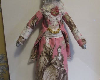 Animal Dolls Victorian Style Humanized Chat Handcrafted Manufacture France
