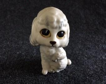 Vintage Lefton white poodle figurine Japan