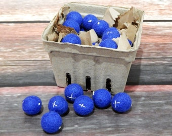 Felt Blueberries: Pretend Play, Decor, Photo Prop