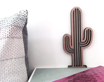 Cactus spineless - 3D Origami - wooden motive