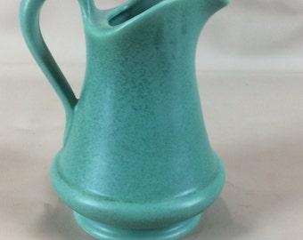 7 inch Royal Haeger matte teal pitcher RG 166