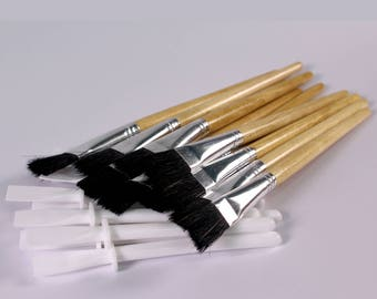 Paste Brush and Plastic White Glue Spreader Pack Glue Brush and PVA Glue Spatulas Value Pack Choose Quantity