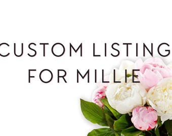 Custom Listing for Millie / Custom Styled Shoot Calligraphy Invite Suite
