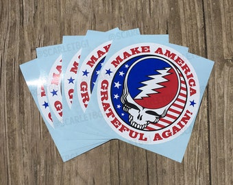 Vinyl Stickers / Decals: Make America Grateful Again!