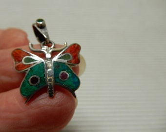 Turquoise 950 Butterfly Pendant