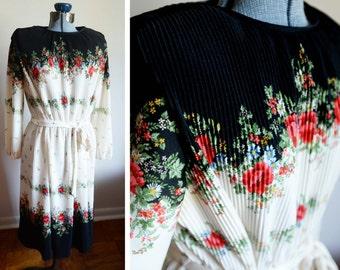 X-Large - Romantic Rose Vinatge Dress