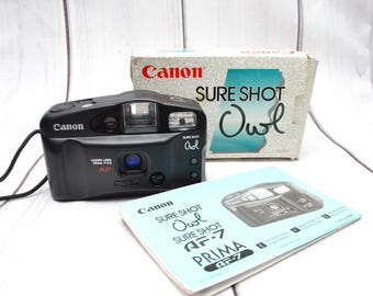 Canon Sure Shot Owl AF-7 Point And Shoot 35mm Film Camera