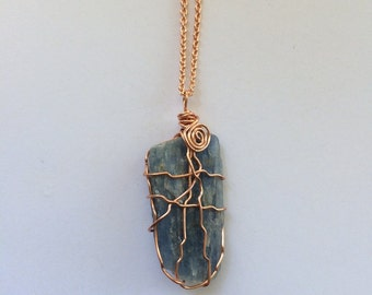 Blue Kyanite Necklace // Kyanite Crystal // Crystal Jewelry