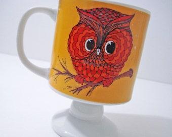 Owl Mug Cup Made In Japan Vintage