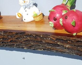 Live Edge. Primitive. Rustic wood shelf, log shelf, floating wall shelf, floating shelf.