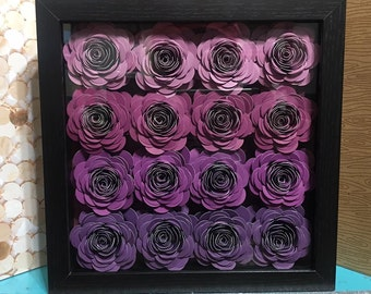 Flower Shadow Box Etsy