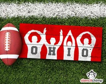DIY O-H-I-O Art STENCIL - Ohio State Pride