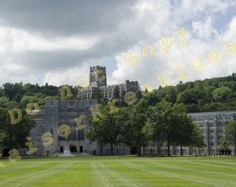 West Point print 12x18 - Washington Hall USMA -  USMA Cadet Chapel - the West Point Plain