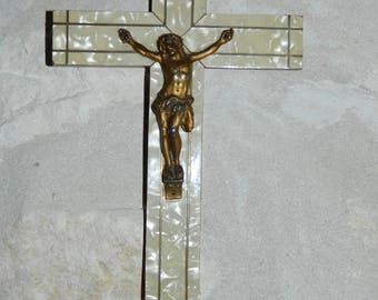 old nice Crucifix, ancient Crucifix.  vintage. french cross vintage 1950s