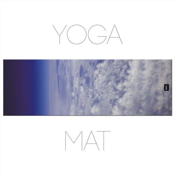Clouds Yoga Mat, Photo Yoga Mat, Printed Mat, Aerial Photography, Sky Yoga Mat