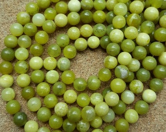 "Natural Peridot 6mm Round Beads - 15.7"" Strand"
