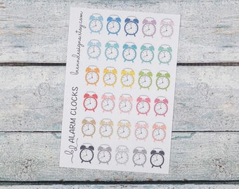 Alarm Clock Icons, Appointment Reminders, Early Morning Reminders, Morning Shifts, Icon Planner Stickers