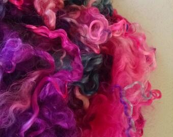 Mohair Locks - Hand Dyed Locks - Doll Hair - Troll Hair - Blythe - Spinning - Felting - Lockspinning - Spinning Fiber - Doll Making - Locks