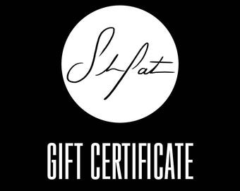 GIFT CERTIFICATE. Pick your own amount. Valid on anything in my shop! Redeemable on custom pet portrait, ready to ship items and more!