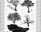 Vector Tree Silhouettes...