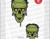 Comic Book Skull Vector I...