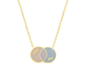 YOU + ME Venn Diagram Necklace