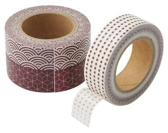 3 rolls Muji Washi Tape Set