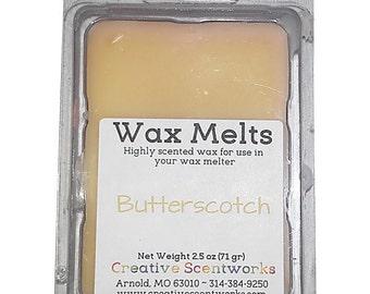 Butterscotch Scented Wax Melts, Wax Cubes, Wax Tart, Wickless Candle, Melting Wax, Wax Melt, Scent Bar, Scent Cube, Wax Bar