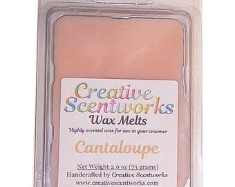 Cantaloupe Scented Wax Melts, Wax Cubes, Wax Tart, Wickless Candle, Melting Wax, Wax Melt, Scent Bar, Scent Cube, Wax Bar
