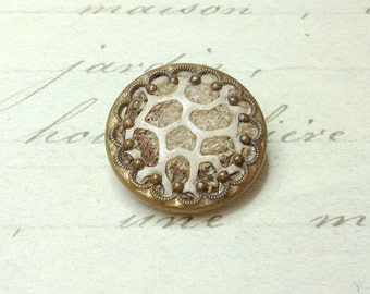 Large Antique Rare Perfume Button 23 mm