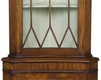 Concave Vintage Corner Cabinet