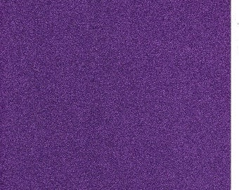 Cadbury Purple Glitter Card A4 soft touch low shed 1 sheet