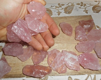 1 Pound of Natural Rose Quartz Wholesale from Brazil
