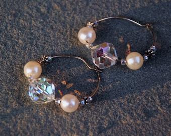 Pearl and Crystal Hoop
